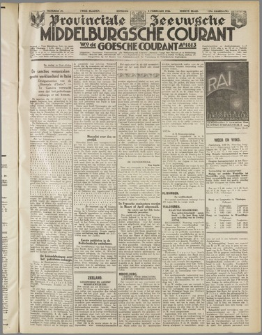 Middelburgsche Courant 1936-02-04