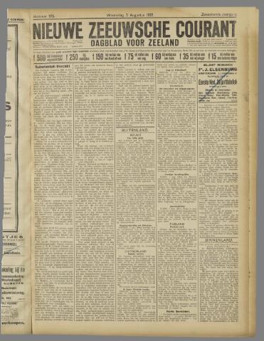 Nieuwe Zeeuwsche Courant 1921-08-03