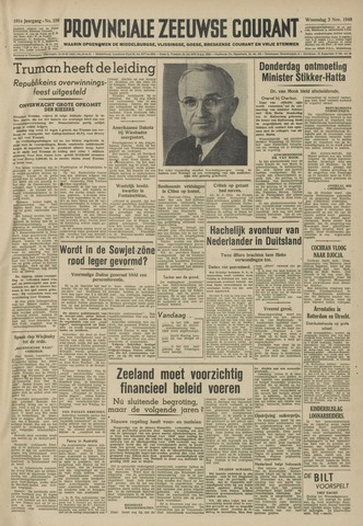 Provinciale Zeeuwse Courant 1948-11-03