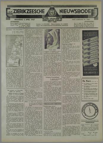 Zierikzeesche Nieuwsbode 1937-04-05