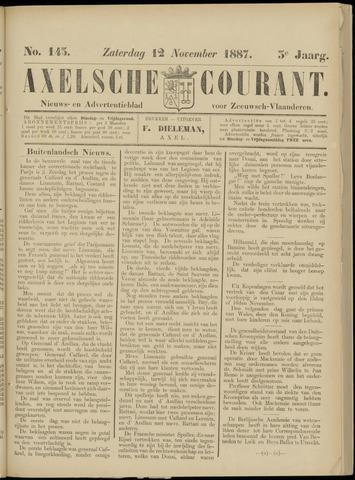 Axelsche Courant 1887-11-12
