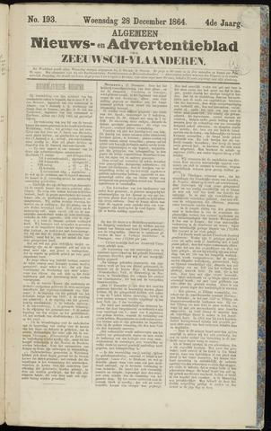Ter Neuzensche Courant. Algemeen Nieuws- en Advertentieblad voor Zeeuwsch-Vlaanderen / Neuzensche Courant ... (idem) / (Algemeen) nieuws en advertentieblad voor Zeeuwsch-Vlaanderen 1864-12-28