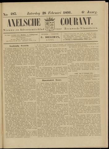 Axelsche Courant 1891-02-28