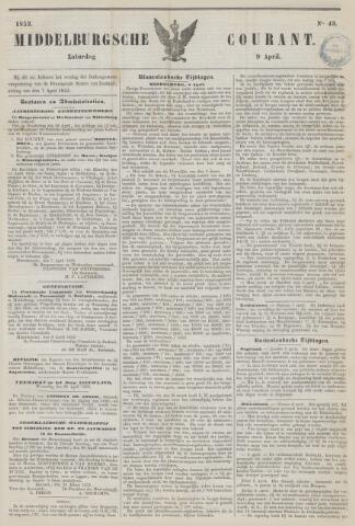 Middelburgsche Courant 1853-04-09