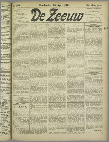 De Zeeuw. Christelijk-historisch nieuwsblad voor Zeeland 1921-04-28