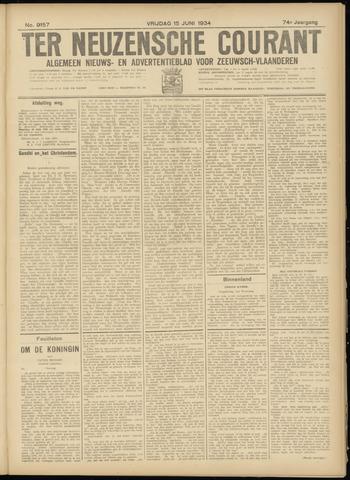 Ter Neuzensche Courant. Algemeen Nieuws- en Advertentieblad voor Zeeuwsch-Vlaanderen / Neuzensche Courant ... (idem) / (Algemeen) nieuws en advertentieblad voor Zeeuwsch-Vlaanderen 1934-06-15