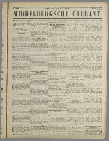 Middelburgsche Courant 1919-07-09