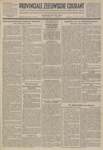 Provinciale Zeeuwse Courant 1942-01-26