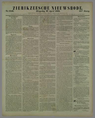 Zierikzeesche Nieuwsbode 1888-04-10