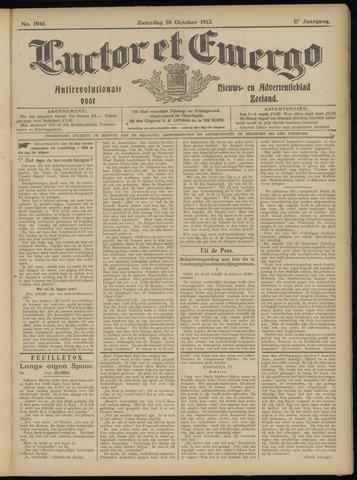 Luctor et Emergo. Antirevolutionair nieuws- en advertentieblad voor Zeeland / Zeeuwsch-Vlaanderen. Orgaan ter verspreiding van de christelijke beginselen in Zeeuwsch-Vlaanderen 1913-10-18