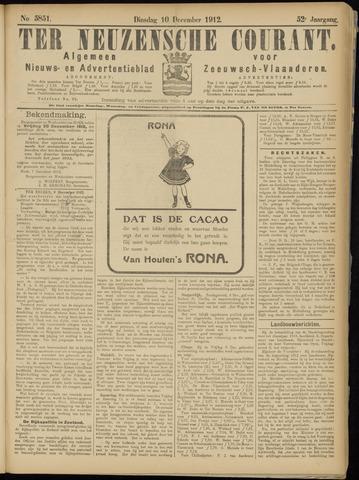 Ter Neuzensche Courant. Algemeen Nieuws- en Advertentieblad voor Zeeuwsch-Vlaanderen / Neuzensche Courant ... (idem) / (Algemeen) nieuws en advertentieblad voor Zeeuwsch-Vlaanderen 1912-12-10