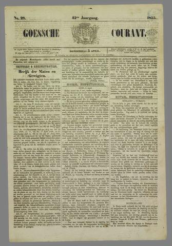 Goessche Courant 1855-04-05