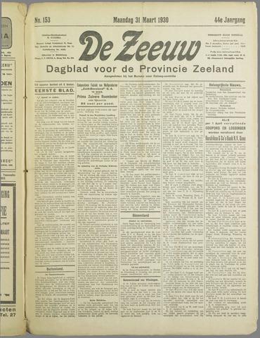 De Zeeuw. Christelijk-historisch nieuwsblad voor Zeeland 1930-03-31