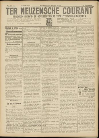 Ter Neuzensche Courant. Algemeen Nieuws- en Advertentieblad voor Zeeuwsch-Vlaanderen / Neuzensche Courant ... (idem) / (Algemeen) nieuws en advertentieblad voor Zeeuwsch-Vlaanderen 1938-04-04