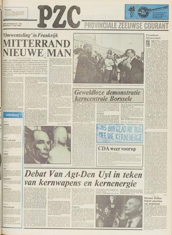 Provinciale Zeeuwse Courant 1981-05-11