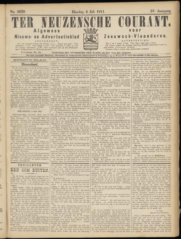 Ter Neuzensche Courant. Algemeen Nieuws- en Advertentieblad voor Zeeuwsch-Vlaanderen / Neuzensche Courant ... (idem) / (Algemeen) nieuws en advertentieblad voor Zeeuwsch-Vlaanderen 1911-07-04