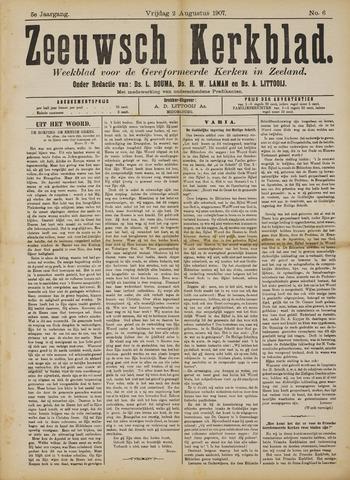 Zeeuwsche kerkbode, weekblad gewijd aan de belangen der gereformeerde kerken/ Zeeuwsch kerkblad 1907-08-02