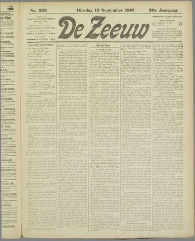 De Zeeuw. Christelijk-historisch nieuwsblad voor Zeeland 1916-09-12
