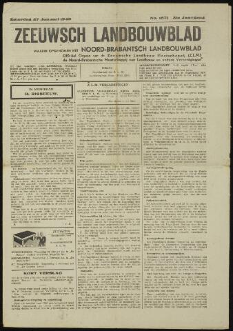 Zeeuwsch landbouwblad ... ZLM land- en tuinbouwblad 1940-01-27