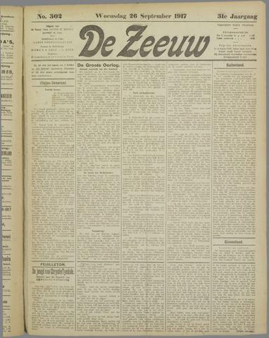 De Zeeuw. Christelijk-historisch nieuwsblad voor Zeeland 1917-09-26