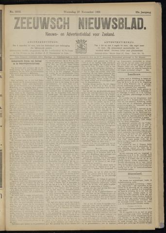 Ter Neuzensch Volksblad. Vrijzinnig nieuws- en advertentieblad voor Zeeuwsch- Vlaanderen / Zeeuwsch Nieuwsblad. Nieuws- en advertentieblad voor Zeeland 1918-11-27