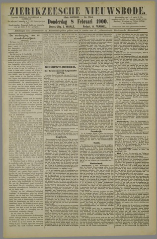 Zierikzeesche Nieuwsbode 1900-02-08