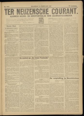 Ter Neuzensche Courant. Algemeen Nieuws- en Advertentieblad voor Zeeuwsch-Vlaanderen / Neuzensche Courant ... (idem) / (Algemeen) nieuws en advertentieblad voor Zeeuwsch-Vlaanderen 1933-02-13