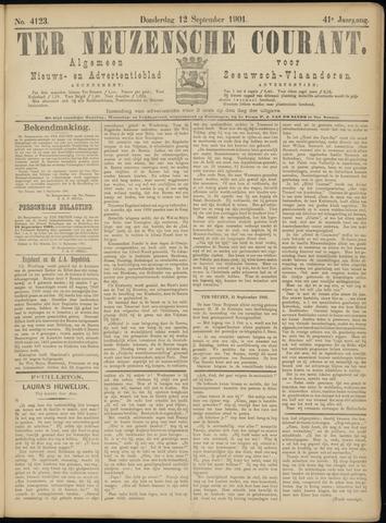 Ter Neuzensche Courant. Algemeen Nieuws- en Advertentieblad voor Zeeuwsch-Vlaanderen / Neuzensche Courant ... (idem) / (Algemeen) nieuws en advertentieblad voor Zeeuwsch-Vlaanderen 1901-09-12