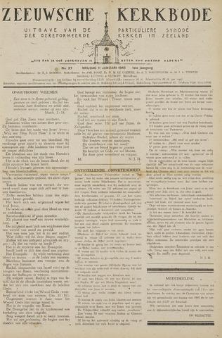 Zeeuwsche kerkbode, weekblad gewijd aan de belangen der gereformeerde kerken/ Zeeuwsch kerkblad 1946-01-11