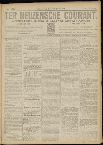 Ter Neuzensche Courant. Algemeen Nieuws- en Advertentieblad voor Zeeuwsch-Vlaanderen / Neuzensche Courant ... (idem) / (Algemeen) nieuws en advertentieblad voor Zeeuwsch-Vlaanderen 1918-11-21