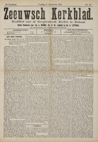 Zeeuwsche kerkbode, weekblad gewijd aan de belangen der gereformeerde kerken/ Zeeuwsch kerkblad 1908-12-11