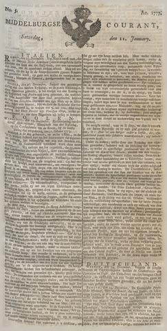 Middelburgsche Courant 1777-01-11