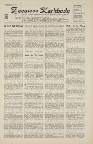 Zeeuwsche kerkbode, weekblad gewijd aan de belangen der gereformeerde kerken/ Zeeuwsch kerkblad 1966-01-21