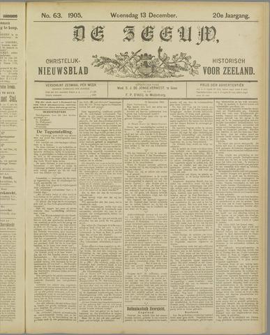 De Zeeuw. Christelijk-historisch nieuwsblad voor Zeeland 1905-12-13