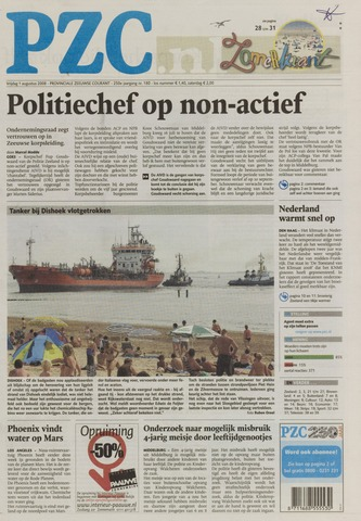 Provinciale Zeeuwse Courant 2008-08-01