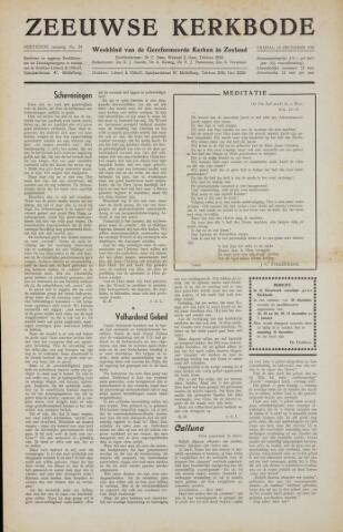 Zeeuwsche kerkbode, weekblad gewijd aan de belangen der gereformeerde kerken/ Zeeuwsch kerkblad 1957-12-13