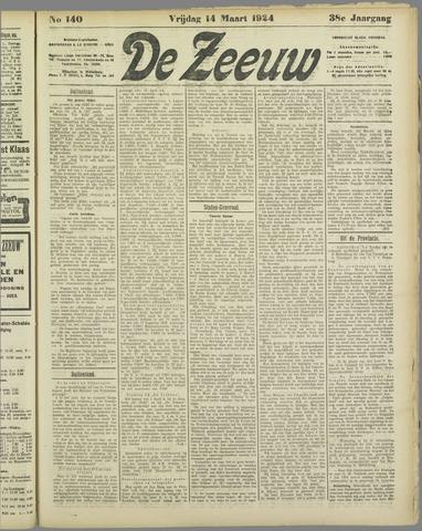 De Zeeuw. Christelijk-historisch nieuwsblad voor Zeeland 1924-03-14