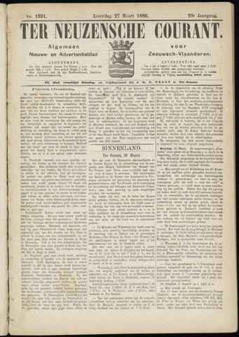 Ter Neuzensche Courant. Algemeen Nieuws- en Advertentieblad voor Zeeuwsch-Vlaanderen / Neuzensche Courant ... (idem) / (Algemeen) nieuws en advertentieblad voor Zeeuwsch-Vlaanderen 1880-03-27