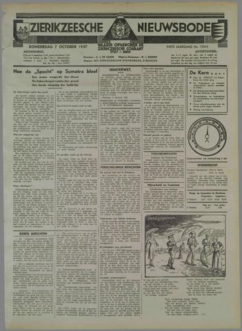 Zierikzeesche Nieuwsbode 1937-10-07