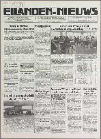 Eilanden-nieuws. Christelijk streekblad op gereformeerde grondslag 1990-11-20