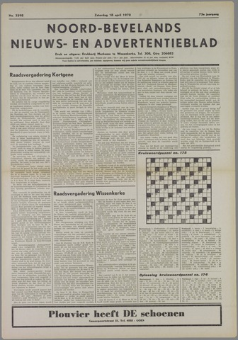 Noord-Bevelands Nieuws- en advertentieblad 1970-04-18