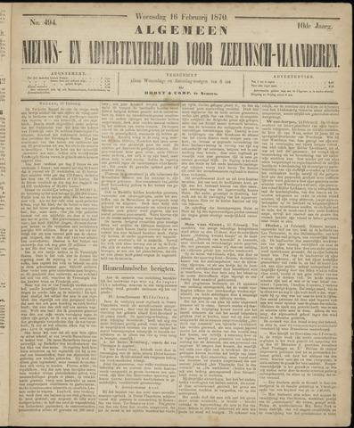 Ter Neuzensche Courant. Algemeen Nieuws- en Advertentieblad voor Zeeuwsch-Vlaanderen / Neuzensche Courant ... (idem) / (Algemeen) nieuws en advertentieblad voor Zeeuwsch-Vlaanderen 1870-02-16