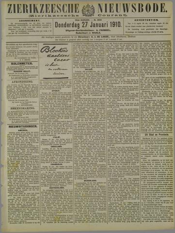 Zierikzeesche Nieuwsbode 1910-01-27