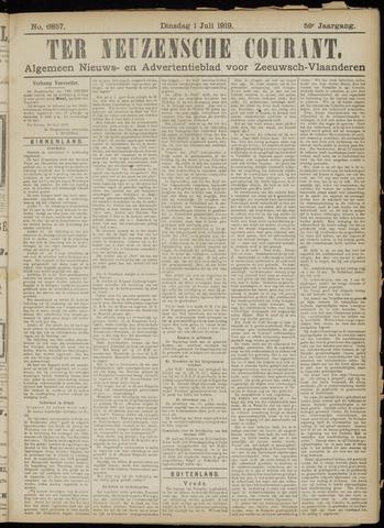 Ter Neuzensche Courant. Algemeen Nieuws- en Advertentieblad voor Zeeuwsch-Vlaanderen / Neuzensche Courant ... (idem) / (Algemeen) nieuws en advertentieblad voor Zeeuwsch-Vlaanderen 1919-07-01