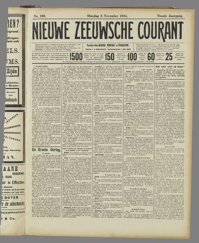 Nieuwe Zeeuwsche Courant 1914-11-03