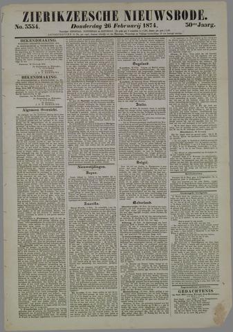 Zierikzeesche Nieuwsbode 1874-02-26