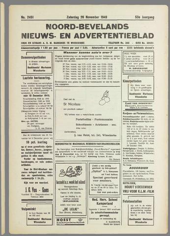 Noord-Bevelands Nieuws- en advertentieblad 1949-11-26