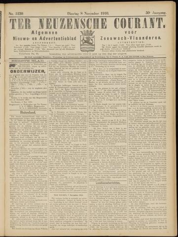 Ter Neuzensche Courant. Algemeen Nieuws- en Advertentieblad voor Zeeuwsch-Vlaanderen / Neuzensche Courant ... (idem) / (Algemeen) nieuws en advertentieblad voor Zeeuwsch-Vlaanderen 1910-11-08