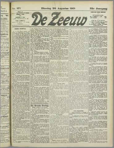 De Zeeuw. Christelijk-historisch nieuwsblad voor Zeeland 1918-08-20