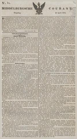 Middelburgsche Courant 1834-04-29